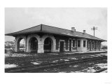 Exterior View of the Southern Pacific Depot - Klamath Falls, OR Prints by  Lantern Press
