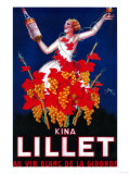 Kina Lillet Vintage Poster - Europe Art by  Lantern Press