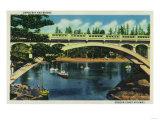 Depoe Bay and Bridge, Oregon - Depoe Bay, OR Prints by  Lantern Press