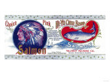 Hi-Yu Chief Salmon Can Label - Santa Anna Inlet, AK Prints