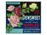 Dewsweet Apple Crate Label - Watsonville, CA Prints