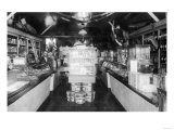 Interior View of E. R. Brown's Store - Eskridge, KS Kunst