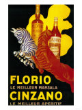Florio Cinzano Vintage Poster - Europe Art par  Lantern Press