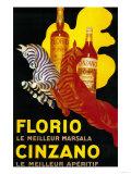 Florio Cinzano Vintage Poster - Europe Kunst von  Lantern Press