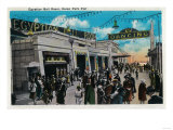 Egyptian Ball Room, Ocean Park Pier - Santa Monica, CA Art by  Lantern Press