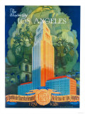 Los Angeles Promotional Poster - Los Angeles, CA Art by  Lantern Press