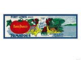 Fort Lewis Tomato Label - Roanoke, VA Art by  Lantern Press