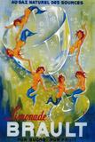Limonade Brault Vintage Poster - Europe Kunstdrucke von  Lantern Press