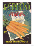 Green Bond Carrot Label - Salinas, CA Prints