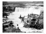 Men fishing at Celilo Falls Photograph - Columbia River, OR Prints by  Lantern Press