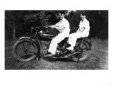 Couple on Indian Motorcycle Photograph - Tacoma, WA Prints