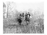 Group on Horseback During a Fox Hunt Photograph - Virginia Prints