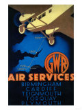 GWR Air Services Vintage Poster - Europe Prints by  Lantern Press