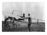 Harriet Quimby in Her Airplane Photograph Lminas