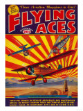 Flying Aces Magazine Cover Plakater af  Lantern Press