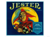 Jester Orange Label - Tustin, CA Prints by  Lantern Press