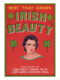Irish Beauty Vegetable Label - New York, NY Prints by  Lantern Press