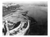Havana, Cuba Harbor with part of Morro Castle Photograph - Havana, Cuba Prints by  Lantern Press