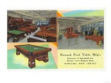 Interior Views of Newark Pool Table Manufacturers - Newark, NJ Art by  Lantern Press