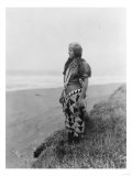 Indian Woman in Primitive Dress Edward Curtis Photograph Art