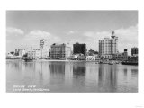 Long Beach, California City Skyline View Photograph - Long Beach, CA Prints by  Lantern Press