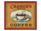 Cramer's Choice Coffee Label Láminas por  Lantern Press