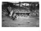 Lou Gehrig Sliding into Home Plate Baseball Photograph - New York, NY Prints