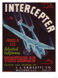 Intercepter Vegetable Label - Watsonville, CA Prints