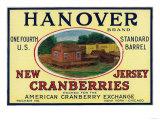Hanover Brand Cranberry Label Prints