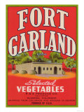 Fort Garland Vegetable Label - Alamosa, CO Prints