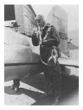 Howard Hughes Pilot Boarding Plane in Full Uniform Photograph - Newark, NJ Lminas