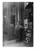 Greek Shoe Shine Boy in Indianapolis Photograph - Indianapolis, IN Prints