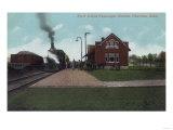 Exterior View of Rock Island Passenger Station - Chariton, IA Prints
