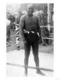 Heavyweight Boxing Champion Jack Johnson Photograph Reproduction giclée Premium par  Lantern Press
