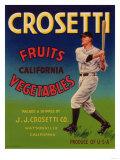 Crosetti Vegetable Label - Watsonville, CA Prints by  Lantern Press