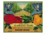 Hopehurst Pear Crate Label - Payette, ID Prints