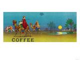 Desert Scene Coffee Label Kunst af Lantern Press