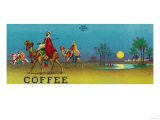 Desert Scene Coffee Label Sztuka autor Lantern Press