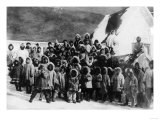 Eskimo School Children in Alaska Photograph - Alaska Art by  Lantern Press