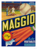 Maggio Vegetable Label - Holtville, CA Prints