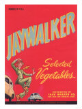 Jaywalker Vegetable Label - Los Angeles, CA Prints