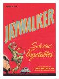 Jaywalker Vegetable Label - Los Angeles, CA Prints by  Lantern Press