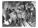 Gold Miners in South Africa Photograph - South Africa Prints by  Lantern Press