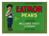 Eatmor Pear Crate Label - Yakima, WA Prints