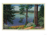 Lake Arrowhead View - Lake Arrowhead, CA Prints by  Lantern Press