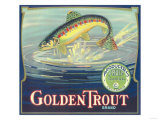 Golden Trout Orange Label - Lindsay, CA Prints