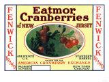 Fenwick Eatmor Cranberries Brand Label Prints