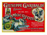 Giuseppe Garibaldi Macaroni Label - Philadelphia, PA Art by  Lantern Press