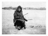 Eskimo Ice Fishing in Nome, Alaska Photograph - Nome, AK Art by  Lantern Press