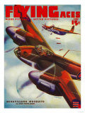 Flying Aces Magazine Cover Art by  Lantern Press